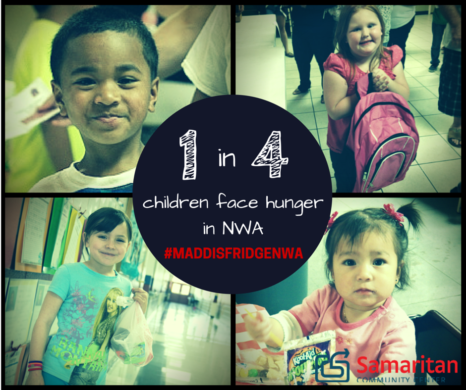 1 in 4 children in NWA face Hunger | Samaritan Community Center is doing soemething about it!