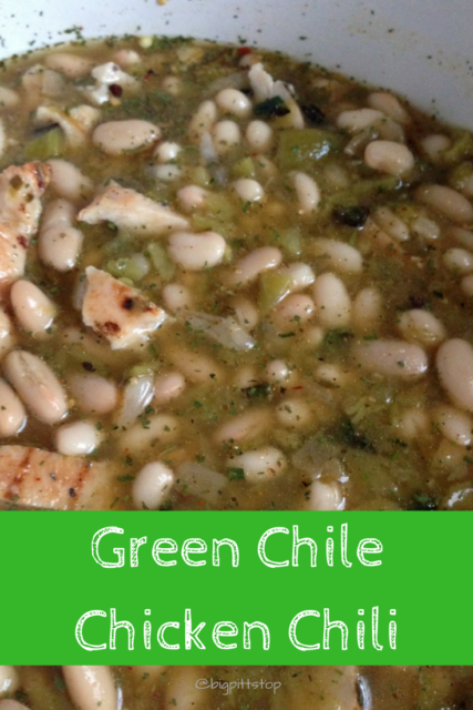 Green Chile Chicken Chili - a warm treat on a winter day, tangy and loaded with proteins