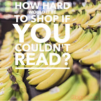 how hard would it be to shop if you couldnt read?