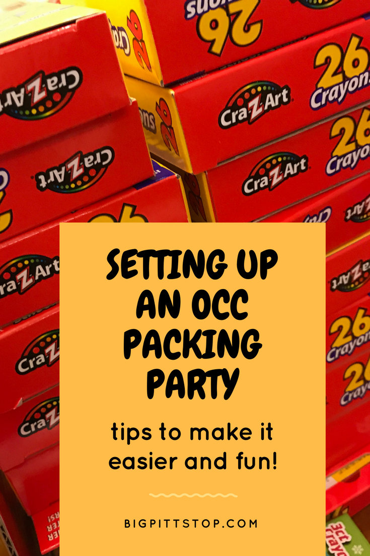 Operation Christmas Child | Setting up a Packing Party