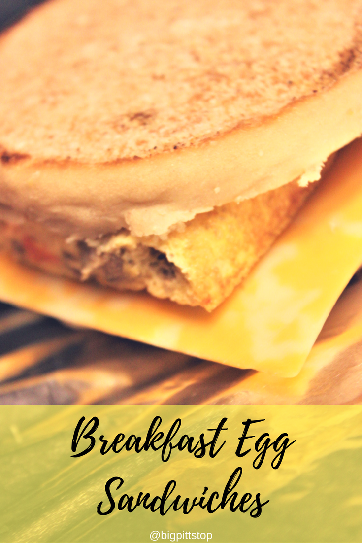 Breakfast Egg Sandwiches | Lighter fare food options - make it easy on yoruself and make a week at a time | @bigpittstop