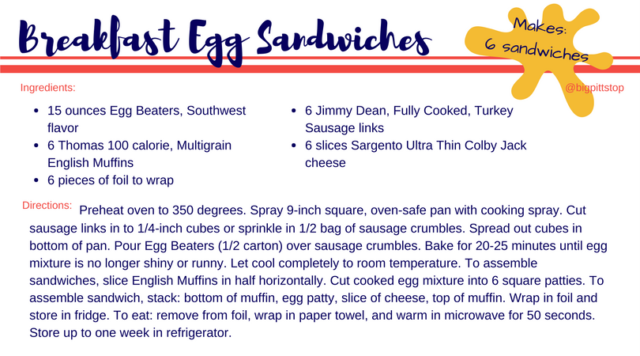 Breakfast Egg Sandiwches | Lighter Fare | @bigpittstop