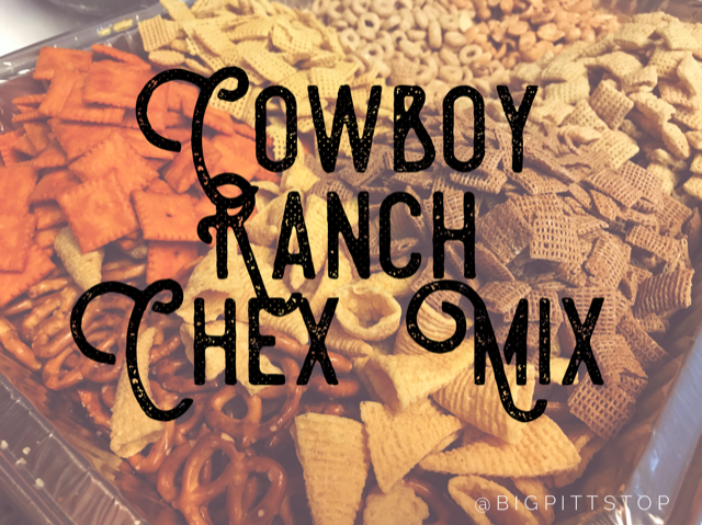 Cowboy Ranch Chex Mix   @bigpittstop   The perfect gifting snack for the holidays or munchy to have at your next party! (even makes a great TY for a Cowboy party)